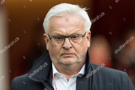 Finnish National Soccer Team's Swedish Head Coach Hans Backe During the International Friendly Soccer Match Between Poland and Finland at Municipal Stadium in Wroclaw Poland 26 March 2016 Poland Wroclaw