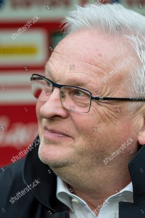 Finnish National Soccer Team's Head Coach Hans Backe Before the Friendly Soccer Match Mbetween Poland and Finland at the Municipal Stadium in Wroclaw Poland 26 March 2016 Poland Wroclaw