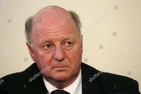 Stock Picture of British Agriculture Minister Jim Paice During a Joint Press Conference with Polish Agriculture Minister Marek Sawicki in Warsaw Poland 22 November 2010 Poland Warsaw