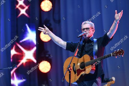 Us Christian Music Singer Songwriter Steven Curtis Chapman in Concert As Part of the Youth Festival During the World Youth Day Events at the Blonia Park in Krakow Poland 26 July 2016 the World Youth Day 2016 in Poland is Held in and Around Krakow From 26 to 31 July Poland Krakow