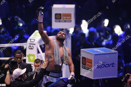 Us Boxer Eric Molina After Defeating Polish Fighter Tomasz Adamek in the Bout For Heavyweight Ibf Intercontinental Belt at Tauron Arena in Krakow Poland 02 April 2016 Molina Won After Knocking out Adamek in the 10th Round Poland Krakow