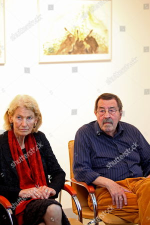 Nobel Prize-winning German Author Gunter Grass (r) and His Wife Ute (l) Attend the Opening Ceremony of the Exhibition 'Gunter Grass Water-colour' in Gdansk Poland 30 June 2012 the Exhibition Presents in the Municipal Gallery Selected Watercolors From the Gunter Grass Book of Poems the Exhibition is Supplemented by Watercolors From the Fifties Poland Gdansk