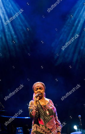 Cape Verdean Folk Singer Cesaria Evora Performs During a Concert in Lublin Poland 17 June 2011 Poland Lublin