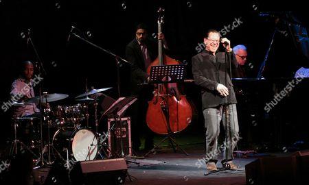 Us Jazz Singer Kurt Elling (r) Performs Onstage During His Concert in Gorzow Wielkopolski Poland 29 March 2011 Poland Gorzow Wielkopolski