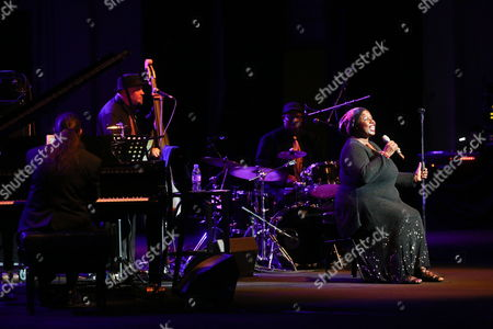 Us Jazz Singer Randy Crawford (r) Performs on Stage During Her Concert at the Ladies Jazz Festival in Warsaw Poland 08 November 2013 Poland Warsaw