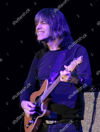 Us Jazz Guitarist Mike Stern Performs Live on Stage with French Jazz Violinst Didier Lockwood (not Pictutred) in Gorzow Wielkopolski Poland 24 October 2010 Poland Gorzow Wielkopolski