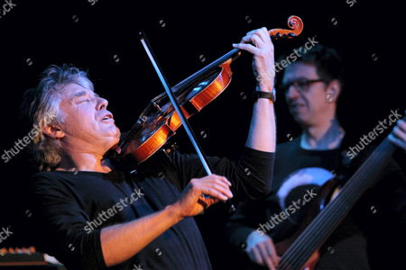 Stock Picture of French Jazz Violinst Didier Lockwood Performs Live on Stage with Us Jazz Guitarist Mike Stern (not Pictutred) in Gorzow Wielkopolski Poland 24 October 2010 Poland Gorzow Wielkopolski