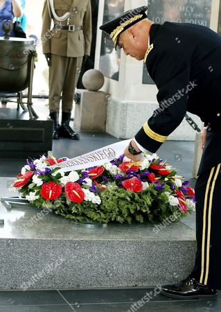 Chief of Staff of the Us Army General Raymond Odierno Lays a Wreath at the Tomb of Unknown Soldier at the Pilsudski Square in Warsaw Poland 08 June 2014 General Odierno is on a Two-day Official Visit to Poland Poland Warsaw