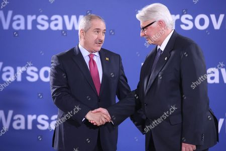 Polish Minister of Foreign Affairs Witold Waszczykowski (r)welcomes His Jordanian Counterpart Nasser Judeh (l) Before the Official Dinner of Ministers of Foreign Relations at the Grand Theatre-national Opera As Part of the Nato Summit in Warsaw Poland 08 July 2016 the North Atlantic Treaty Organization (nato) Warsaw Summit Which is Expected to Decide About Military Reinforcements on Nato Territory in Central-east Europe Takes Place on 08 and 09 July About 2 000 Delegates Including 18 State Heads 21 Prime Ministers 41 Foreign Ministers and 39 Defence Ministers Will Take Part in the Summit Poland Warsaw