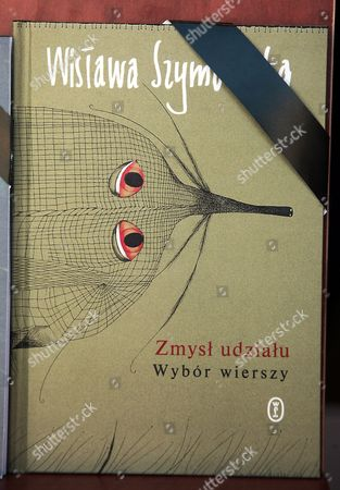 A Close Up of a Book of Poetry by Late Polish Writer Wislawa Szymborska with a Black Band Around the Cover in a Bookstore in Warsaw Poland 02 February 2012 Nobel Literature Laureate Szymborska Died of Cancer at the Age of 88 in Krakow on 01 February 2012 Poland Warsaw