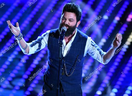 Stock Picture of Italian singer Francesco Guasti perfoms on stage during the 67th Festival of the Italian Song of Sanremo at the Ariston theater in Sanremo, Italy, 08 February 2017. The 67th edition of the television song contest runs from 07 to 11 February.