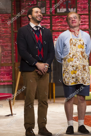 Greg Lockett (Bernard) and James Holmes (Emory) during the curtain call