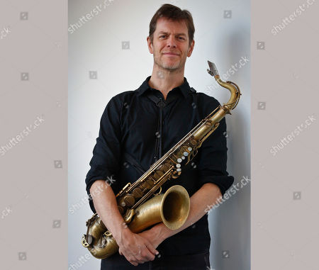 """This photo shows saxophonist Donny McCaslin after an interview in New York. McCaslin worked with the late David Bowie on his last album, """"Blackstar,"""" which was nominated for several Grammy Awards including best alternative music album. The song """"Blackstar"""" is up for best rock performance and best rock song"""
