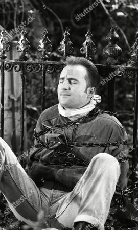 Stock Photo of Gavin Kitchen (as Steve Marshal) is discovered having spent the night chained to the railings (Ep 1784 - 22nd July 1993)