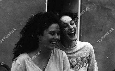 Nicola Strong (as Lorraine Nelson) and Rebekah Joy Gilgan (as Debbie Buttershaw)(Ep 1784 - 22nd July 1993)