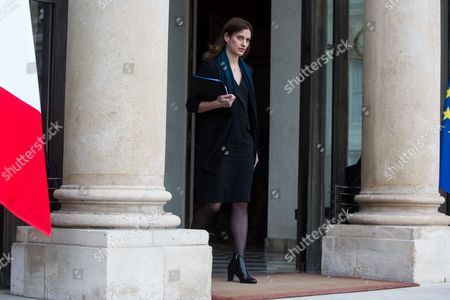 Stock Photo of French Junior Minister for Victims Aid Juliette Meadel leaves the Elysee Presidential Palace