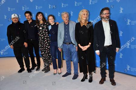 Wang Quanan, Diego Luna, Maggie Gyllenhaal, Julia Jentsch, President of the jury Dutch director Paul Verhoeven, Dora Bouchoucha Fourati and Olafur Eliasson