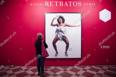 A visitor looks at a photograph by Swiss artist Michel Comte depicting US singer Tina Turner during the press preview of the exhibition 'Michael Comte. Portraits' at La Termica contemporary art center in Malaga, southeastern Spain, 09 February 2017. The exhibition will run from 10 February to 14 May 2017.
