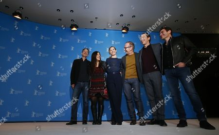 (L-R) Actor Jan Henrik Stahlberg, actress Bea Palya, actress Cecile de France, director Etienne Comar, actor Reda Kateb and actor Alex Brendemuhl pose during the photocall for 'Django' during the 67th annual Berlin Film Festival, in Berlin, Germany, 09 February 2017. The opening movie is presented in the Official Competition at the Berlinale that runs from 09 to 19 February.