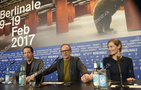 (L-R) French actor Reda Kateb, French director Etienne Comar and Belgian actress Cecile de France attend the press conference for 'Django' during the 67th annual Berlin Film Festival, in Berlin, Germany, 09 February 2017. The movie is presented in the Official Competition at the Berlinale that runs from 09 to 19 February.