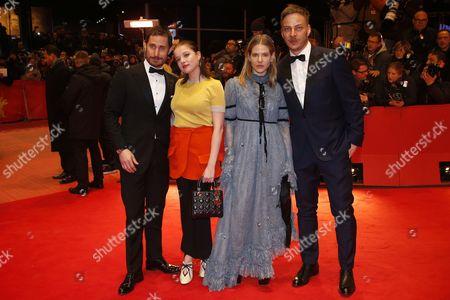 German actors Clemens Schick (L-R), Jella Haase, costume designer Aino Laberenz from Finland and Tom Wlaschiha