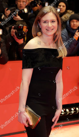 Jury member Julia Jentsch arrives on the red carpet for the opening film 'Django' at the 2017 Berlinale Film Festival in Berlin, Germany