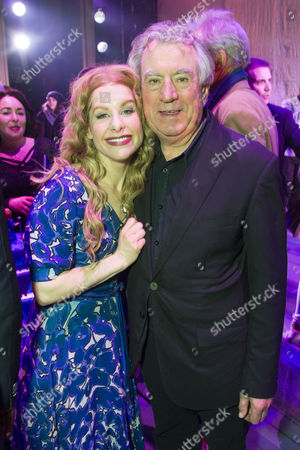 Cassidy Janson (Carole King) and Terry Jones backstage