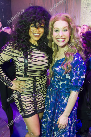 Stacy Francis and Cassidy Janson (Carole King) backstage