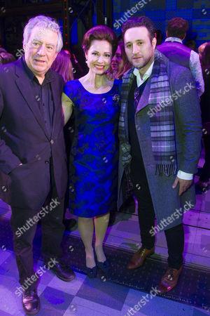 Terry Jones, Barbara Drennan (Genie Klein) and Antony Costa backstage