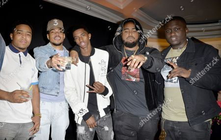 Justin Dior Combs, Chance The Rapper, Christian Combs, Kent Jones nd Zoey Dollaz
