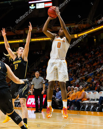 Jordan Reynolds #0 of the Tennessee Lady Volunteers shoots the ball during the NCAA basketball game between the University of Tennessee Lady Volunteers and the University of Missouri Tigers at Thompson Boling Arena in Knoxville TN Tim Gangloff/CSM