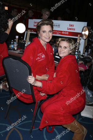 Lucy Lawless and Bonnie Somerville