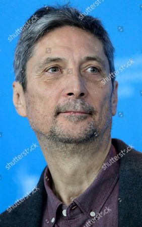 Actor Geza Morcsanyi poses for the photographers during a photo call for the film 'On Body and Soul' at the 2017 Berlinale Film Festival in Berlin, Germany