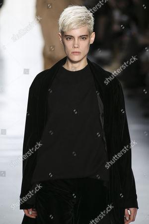 Stock Photo of Taja Feistner on the catwalk