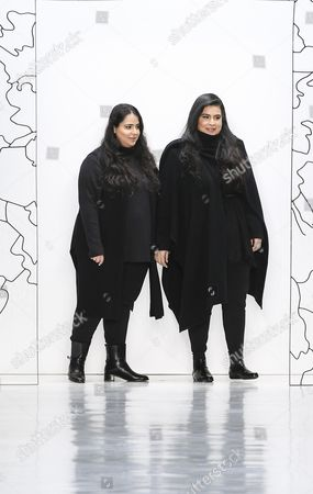 Stock Photo of Noor Al Khalifa and Haya Al Khalifa on the catwalk