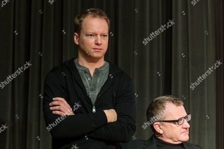 Deputy Chairman of the European Film Academy Mike Downey (r) and the Host of European Film Awards Gala Polish Actor Maciej Stuhr (l) During the Press Conference on the 29th European Film Awards in Wroclaw Poland 09 December 2016 the Conference Organized by the Foundation For Legal Culture Takes Place the Day Before the European Film Awards Gala Poland Wroclaw