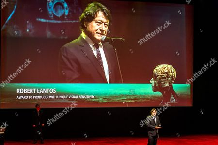 Canadian Film Producer Robert Lantos Speaks on Stage After Receiving the Award to a 'Producer with Unique Visual Sensitivity' During the Opening Gala of the 24th Camerimage International Film Festival 2016 in Bydgoszcz Poland 12 November 2016 Poland Bydgoszcz