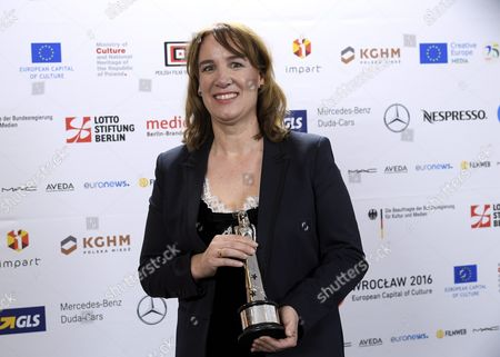 Stock Picture of Dutch Producer Leontine Petit who was Honored with the Award As European Co-production Award Prix Eurimages After the 29th European Film Awards Ceremony in Wroclaw Poland 10 December 2016 the Awards Are Presented Annually by the European Film Academy to Recognize Excellence in European Cinema Poland Wroclaw
