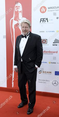 Swedish Actor Rolf Lassgard Arrives on the Red Carpet at the European Film Awards in Wroclaw Poland 10 December 2016 the Awards Are Presented Annually by the European Film Academy to Recognize Excellence in European Cinematic Achievements Poland Wroclaw