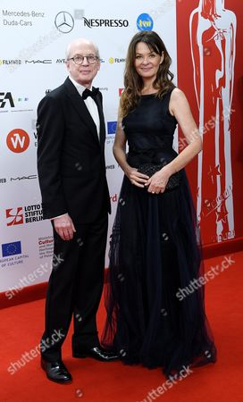 Stock Picture of Danish Film Editor Janus Billeskov Jansen (l) and Norwegian Film Editor Anne Osterud (r) Arrive on the Red Carpet at the European Film Awards in Wroclaw Poland 10 December 2016 the Awards Are Presented Annually by the European Film Academy to Recognize Excellence in European Cinema Poland Wroclaw