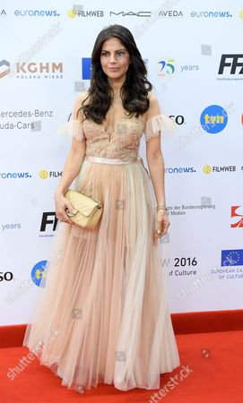 Polish Actress Weronika Rosati Arrives on the Red Carpet at the European Film Awards in Wroclaw Poland 10 December 2016 the Awards Are Presented Annually by the European Film Academy to Recognize Excellence in European Cinematic Achievements Poland Wroclaw