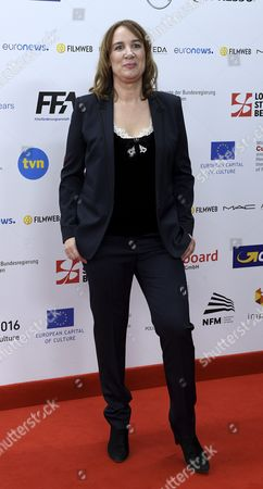 Stock Photo of Dutch Film Producer Leontine Petit Arrives on the Red Carpet at the European Film Awards in Wroclaw Poland 10 December 2016 the Awards Are Presented Annually by the European Film Academy to Recognize Excellence in European Cinematic Achievements Poland Wroclaw