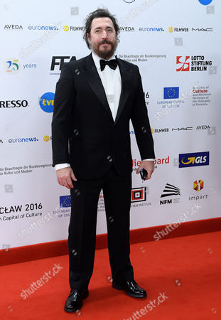 Italian Director Alex Infascelli Arrives on the Red Carpet at the European Film Awards in Wroclaw Poland 10 December 2016 the Awards Are Presented Annually by the European Film Academy to Recognize Excellence in European Cinematic Achievements Poland Wroclaw