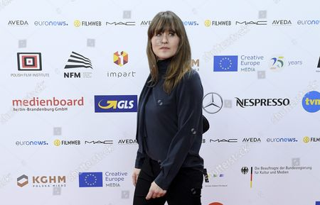 Danish Cinematographer Camilla Hjelm Knudsen Arrives on the Red Carpet at the European Film Awards in Wroclaw Poland 10 December 2016 the Awards Are Presented Annually by the European Film Academy to Recognize Excellence in European Cinematic Achievements Poland Wroclaw