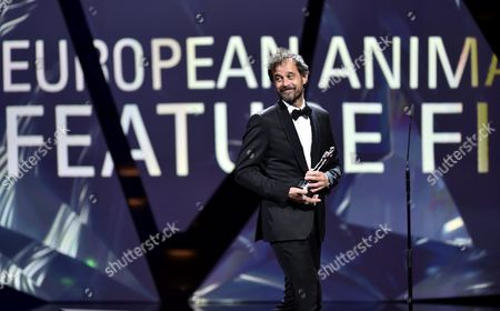 Swiss Director Claude Barras on Stage with His Award For Best European Animated Feature Film During the 29th European Film Awards Ceremony in Wroclaw Poland 10 December 2016 the Awards Are Presented Annually by the European Film Academy to Recognize Excellence in European Cinema Poland Wroclaw