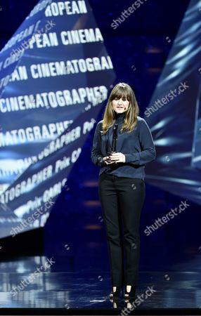 Stock Picture of Danish Cinematographer Camilla Hjelm Knudsen is Honored with the Award As European Cinematographer 2016 Prix Carlo Di Palma For the Film 'Land of Mine' During the 29th European Film Awards Ceremony in Wroclaw Poland 10 December 2016 the Awards Are Presented Annually by the European Film Academy to Recognize Excellence in European Cinema Poland Wroclaw
