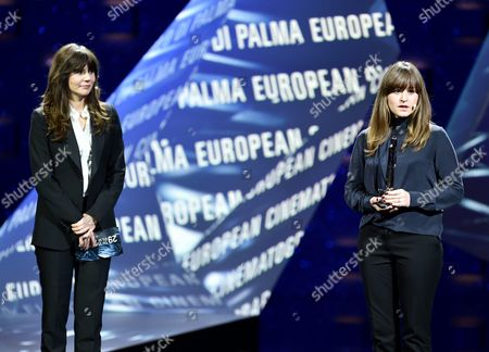 Danish Cinematographer Camilla Hjelm Knudsen (r) is Honored with the Award As European Cinematographer 2016 Prix Carlo Di Palma For the Film 'Land of Mine' During the 29th European Film Awards Ceremony in Wroclaw Poland 10 December 2016 the Awards Are Presented Annually by the European Film Academy to Recognize Excellence in European Cinema Poland Wroclaw