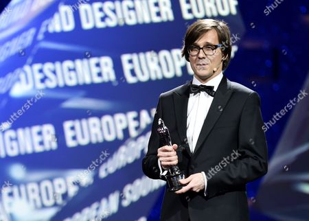 Stock Picture of Polish Sound Designer Radoslaw Ochnio Poses For Photos with His European Sound Designer 2016 Award For the Film '11 Minutes' During the 29th European Film Awards Ceremony in Wroclaw Poland 10 December 2016 the Awards Are Presented Annually by the European Film Academy to Recognize Excellence in European Cinema Poland Wroclaw