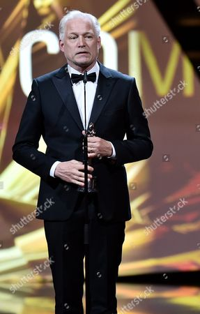 Swedish Director Hannes Holm with the European Comedy Award For the Film 'A Man Called Ove' During the 29th European Film Awards Ceremony in Wroclaw Poland 10 December 2016 the Awards Are Presented Annually by the European Film Academy to Recognize Excellence in European Cinema Poland Wroclaw