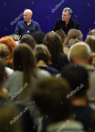 Australian Novelist Richard Flanagan (l) and Us Writer Michael Cunningham (r) Attend a Meeting with Readers at the 8th Conrad Festival in Cracow Poland 29 October 2016 (issued 30 October) the Leading Motif of This Year's Edition of the Literary Festival is 'Intensity Understood Both As Passion and Unwavering Commitment to the Common Matter of Culture ' Poland Cracow